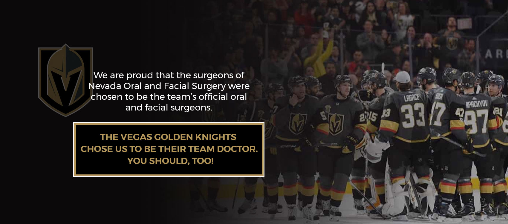 Official Oral Surgeons of The Vegas Golden Knights