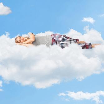 Woman Sleeping on clouds